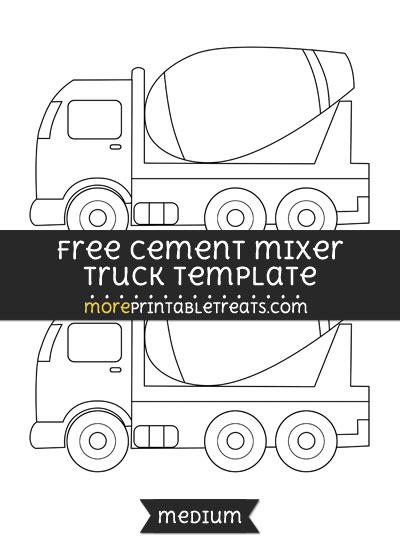 Free Cement Mixer Truck Template - Medium