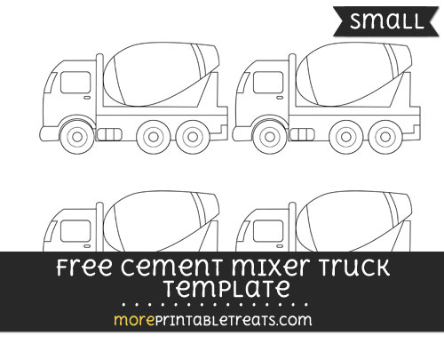 Free Cement Mixer Truck Template - Small