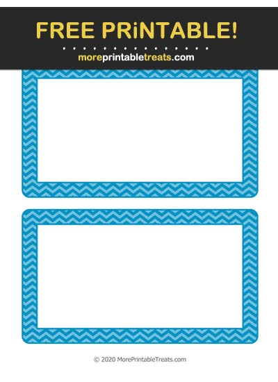 Free Printable Cerulean Blue Chevron Labels