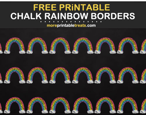 Free Printable Chalkboard Style Rainbow Borders for Bulletin Boards, Scrapbook Pages, Cards, etc.