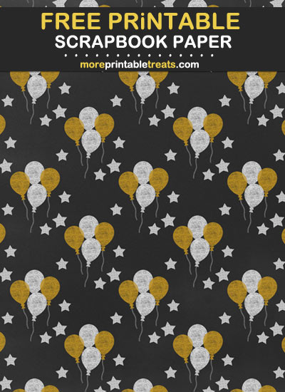 Free Printable Chalk-Style New Years Scrapbook Paper