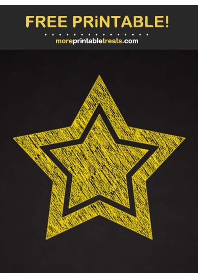 Free Printable Chalk-Style Pineapple Yellow Double Star Cut Out