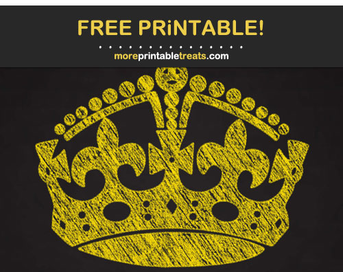 Free Printable Chalk-Style Pineapple Yellow Keep Calm Crown