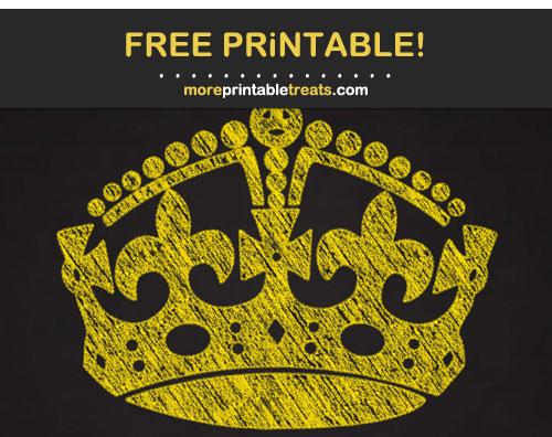 Free Printable Chalk-Style Pineapple Yellow Keep Calm Crown