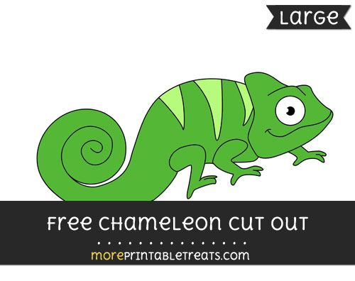Free Chameleon Cut Out - Large size printable