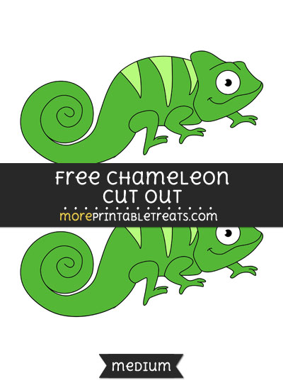 Free Chameleon Cut Out - Medium Size Printable