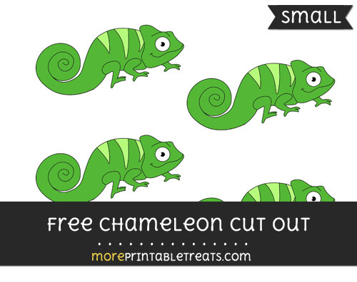 Free Chameleon Cut Out - Small Size Printable