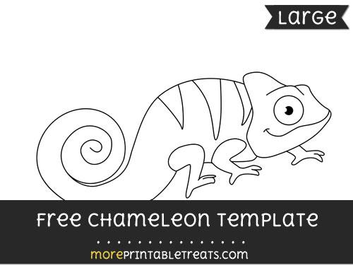 Free Chameleon Template - Large