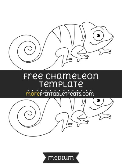 Free Chameleon Template - Medium