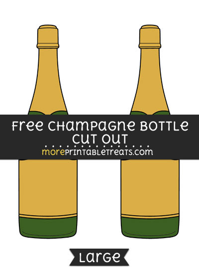 Free Champagne Bottle Cut Out - Large size printable