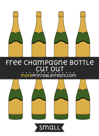 Free Champagne Bottle Cut Out - Small Size Printable