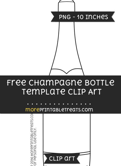 Free Champagne Bottle Template - Clipart