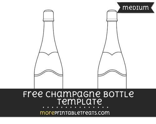 Free Champagne Bottle Template - Medium