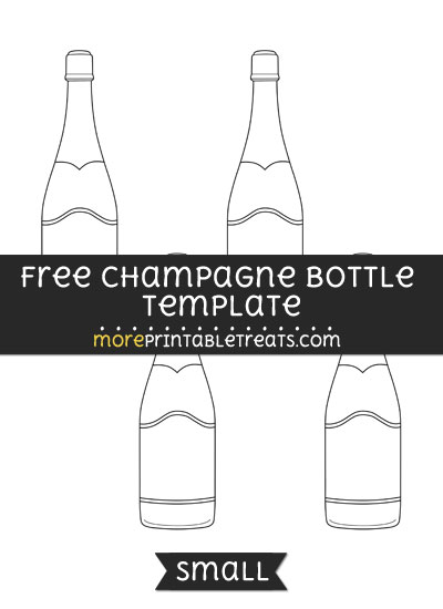 Free Champagne Bottle Template - Small