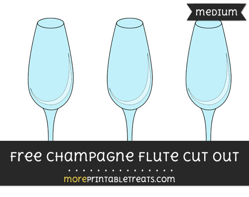 Free Champagne Flute Cut Out - Medium Size Printable