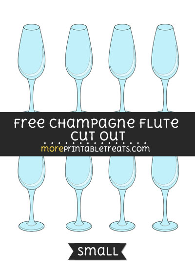 Free Champagne Flute Cut Out - Small Size Printable