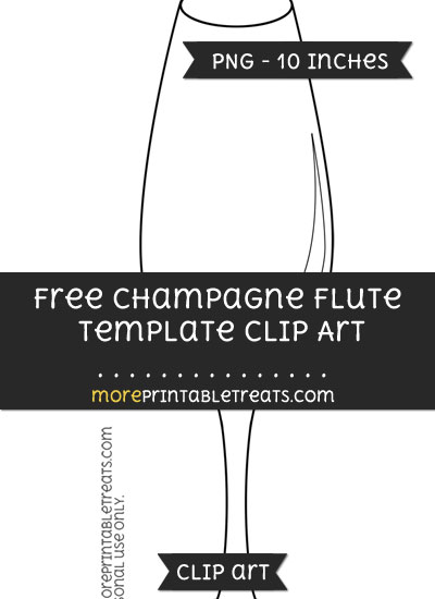 Free Champagne Flute Template - Clipart