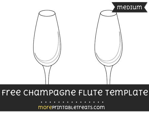 Free Champagne Flute Template - Medium