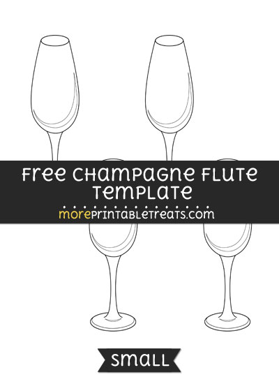 Free Champagne Flute Template - Small