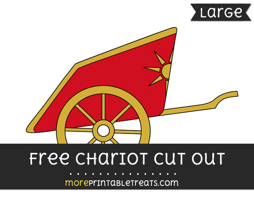 Free Chariot Cut Out - Large size printable