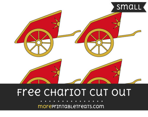 Free Chariot Cut Out - Small Size Printable