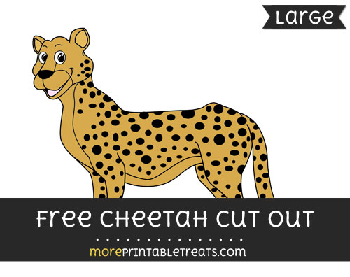 Free Cheetah Cut Out - Large size printable