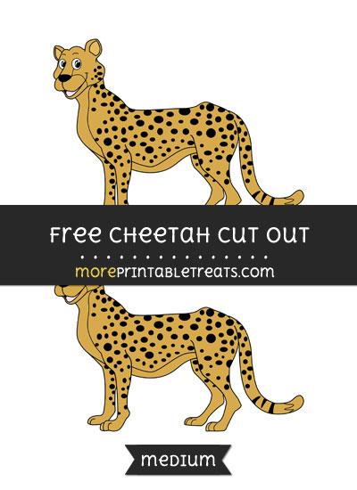 Free Cheetah Cut Out - Medium Size Printable