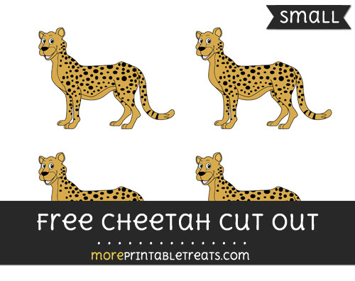 Free Cheetah Cut Out - Small Size Printable