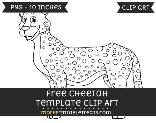 Free Cheetah Template - Clipart