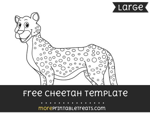 Free Cheetah Template - Large