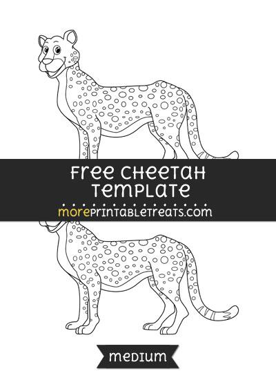 Free Cheetah Template - Medium