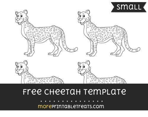 Free Cheetah Template - Small