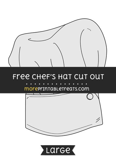 Free Chefs Hat Cut Out - Large size printable