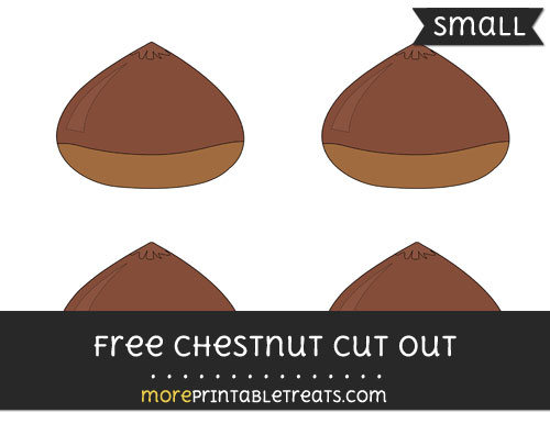 Free Chestnut Cut Out - Small Size Printable