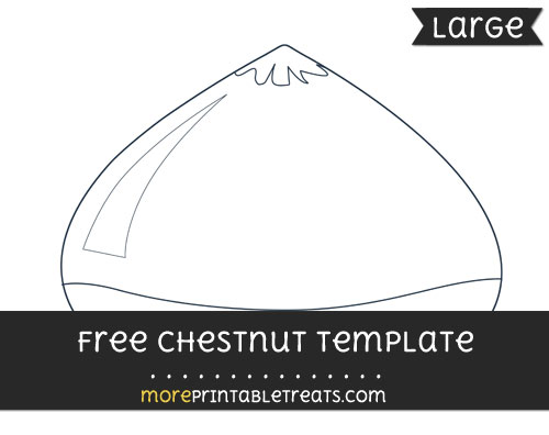 Free Chestnut Template - Large