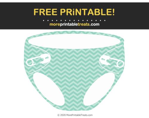 Free Printable Chevron Pattern Diaper Cut Out