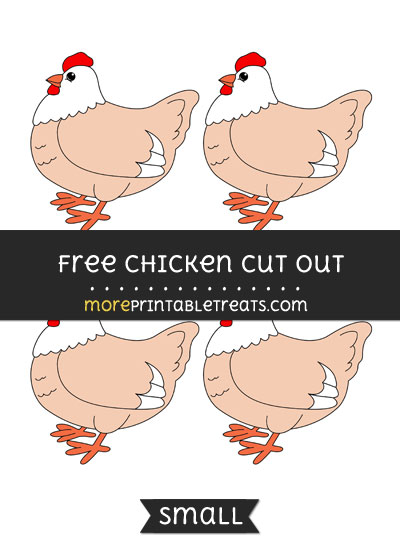 Free Chicken Cut Out - Small Size Printable