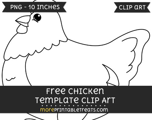 Free Chicken Template - Clipart
