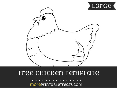 Free Chicken Template - Large