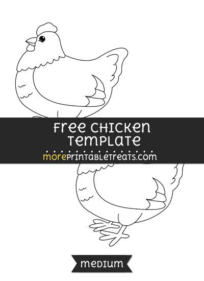 Free Chicken Template - Medium
