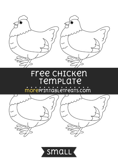 Free Chicken Template - Small