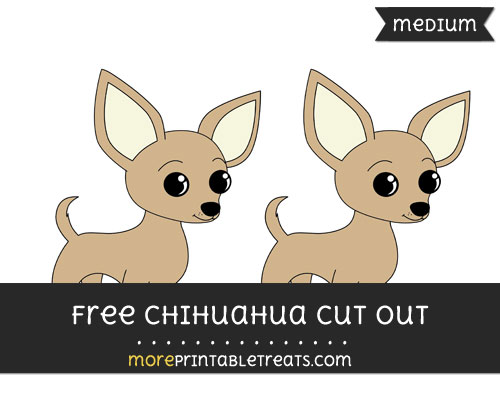 Free Chihuahua Cut Out - Medium Size Printable