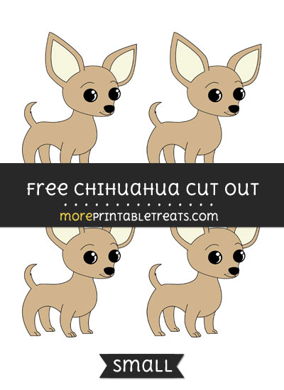 Free Chihuahua Cut Out - Small Size Printable