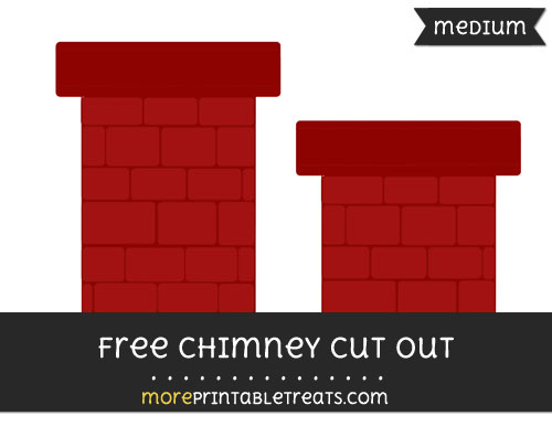 Free Chimney Cut Out - Medium Size Printable