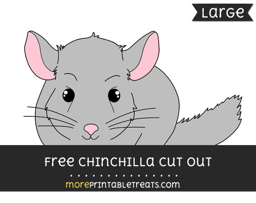Free Chinchilla Cut Out - Large size printable