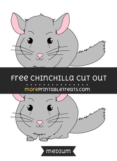 Free Chinchilla Cut Out - Medium Size Printable