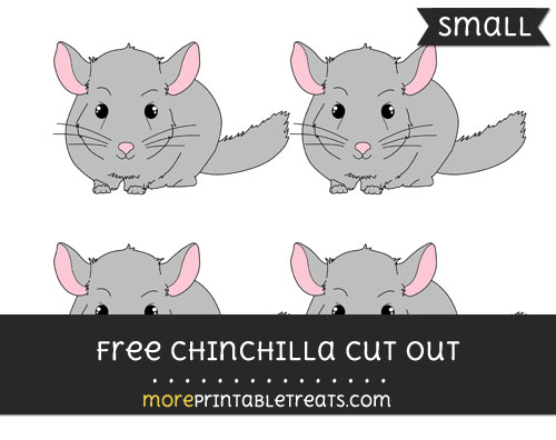 Free Chinchilla Cut Out - Small Size Printable