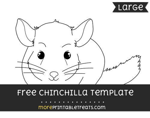 Free Chinchilla Template - Large