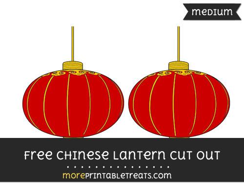 Free Chinese Lantern Cut Out - Medium Size Printable