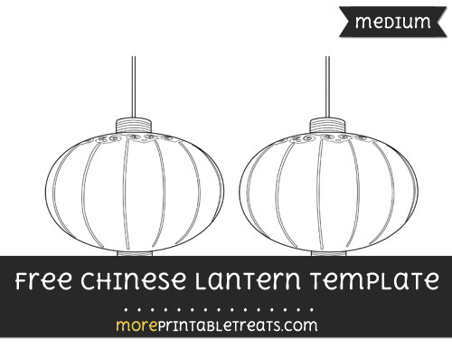 Free Chinese Lantern Template - Medium